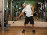 Flexão lateral de tronco em pé c/ polia baixa