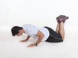 Flexão de braços fechada c/ joelho no solo