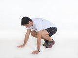 Flexão de braços + salto vertical c/ movimento dos braços COMBINAÇÃO