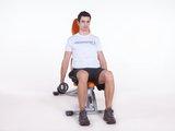Elevação lateral sentada c/ halter