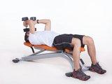 Tríceps testa  c/ halter