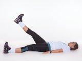 Abdominal - flexão e extensão do quadril c/ 1 perna suspensa 90º