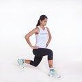 Agachamento avanço pliométrico dinâmico - peso do corpo