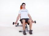 Rosca Bíceps c/ halter sentado